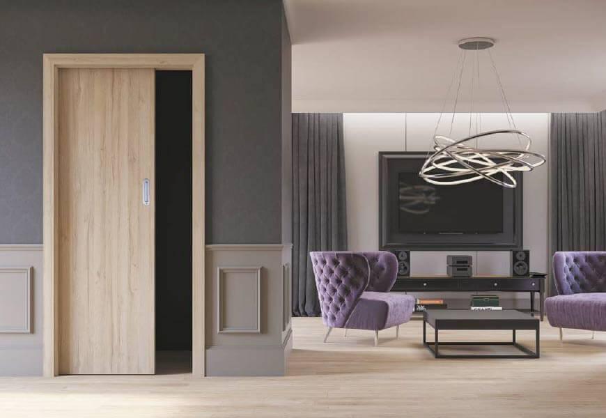 Drzwi przesuwne, chowane w ścianę DRE - Salony HOFF