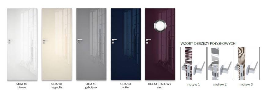 Drzwi Silia 10, DRE - opcje kolorystyczne - Salony HOFF