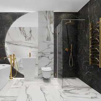 aranzacja łazienki calacatta gold