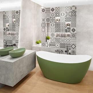 modna łazienka overland grigio