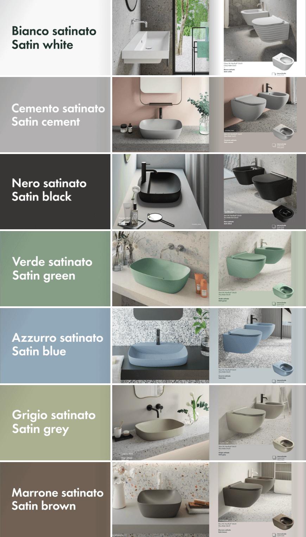 Catalano, kolorowa kolekcja ceramiki łazienkowej, ceramika kolor, kolorowa umywalka, kolorowa toaleta miska wc. Ceramika łazienkowa w odmienionym wydaniu Salon HOFF