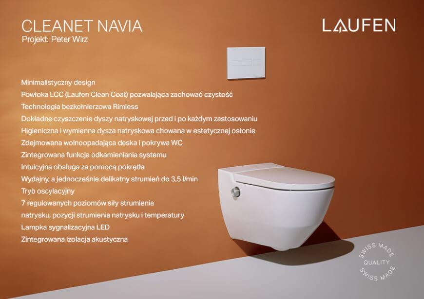 cleanet navia laufen toaleta myjąca trendy łazienkowe 2021