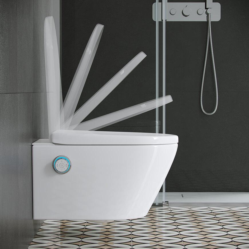Deska wolnoopadająca w toalecie myjącej DAKOTA Excellent