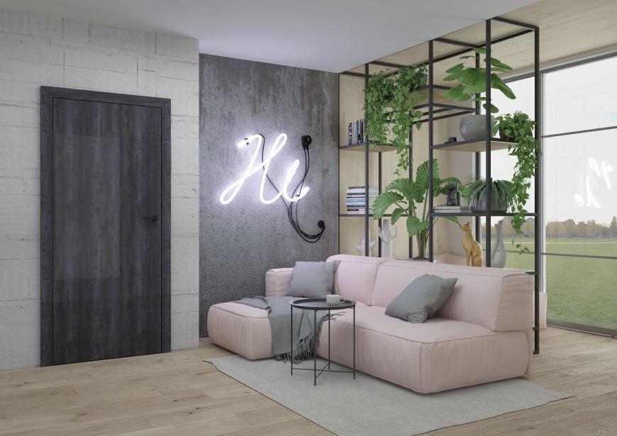 Drzwi DRE w nowoczesnym salonie