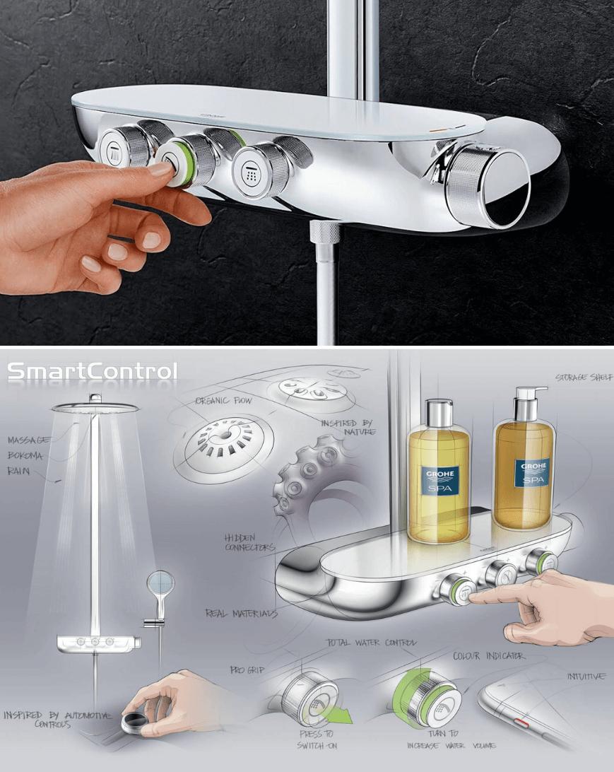 Grohe SmartControl. Bateria prysznicowa GROHE. Baterie prysznicowe HOFF. Artykuł-Armatura przyszłości. Armatura łazienkowa HOFF.