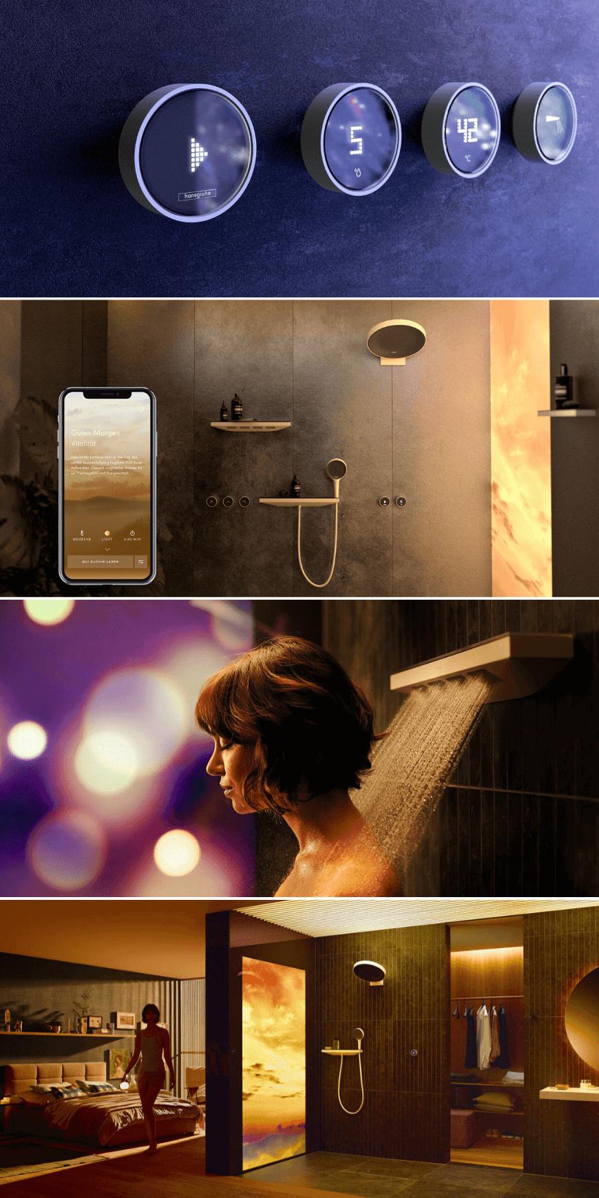 Hansgrohe RainTunes, prysznic stresowany smartfonem. Artykuł HOFF - Armatura przyszłości. Armatura HOFF. Baterie prysznicowe HOFF.