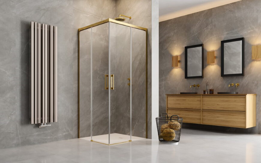 Złota kabina prysznicowa. IDEA Gold Radaway. Salon HOFF