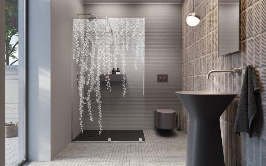 Kabina prysznicowa Furo Walk-in z grawerem Bluszcz, Radaway