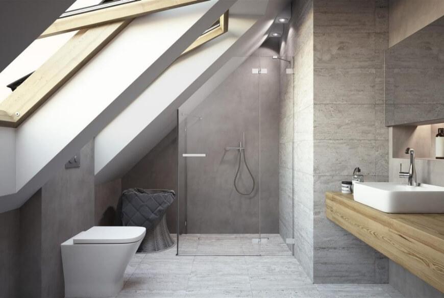 Kabina prysznicowa na poddaszu Radaway