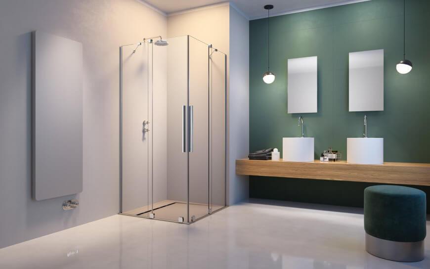 Drzwi przesuwne w kabinie prysznicowej Furo KDD Radaway