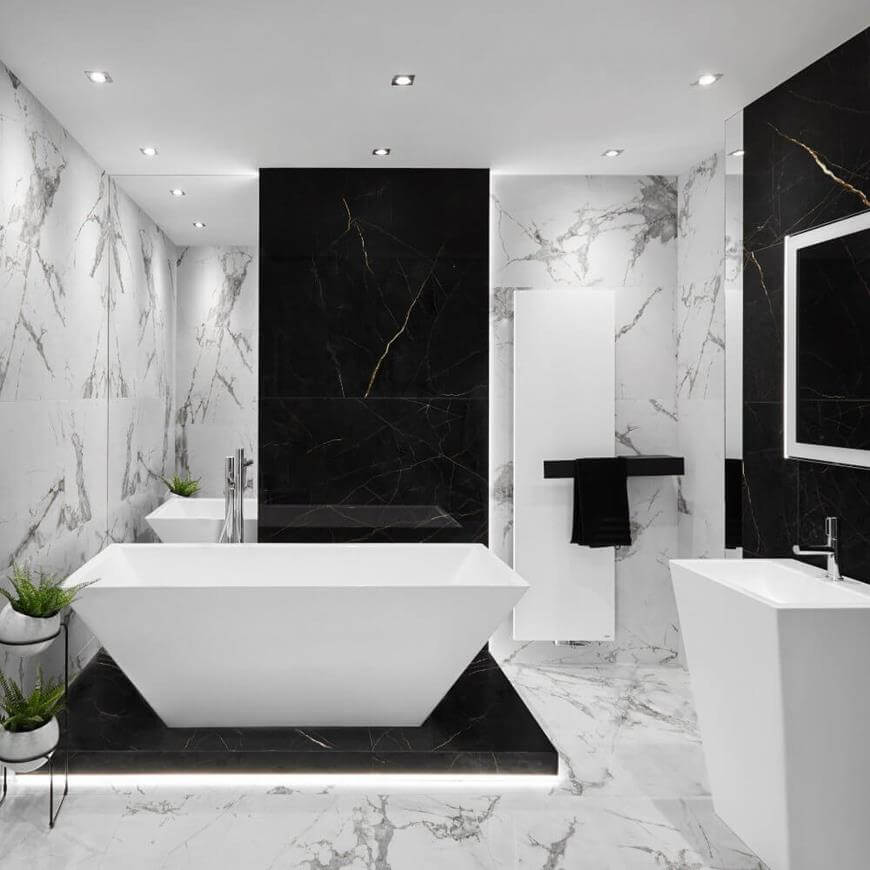 Płytki XXL w łazience