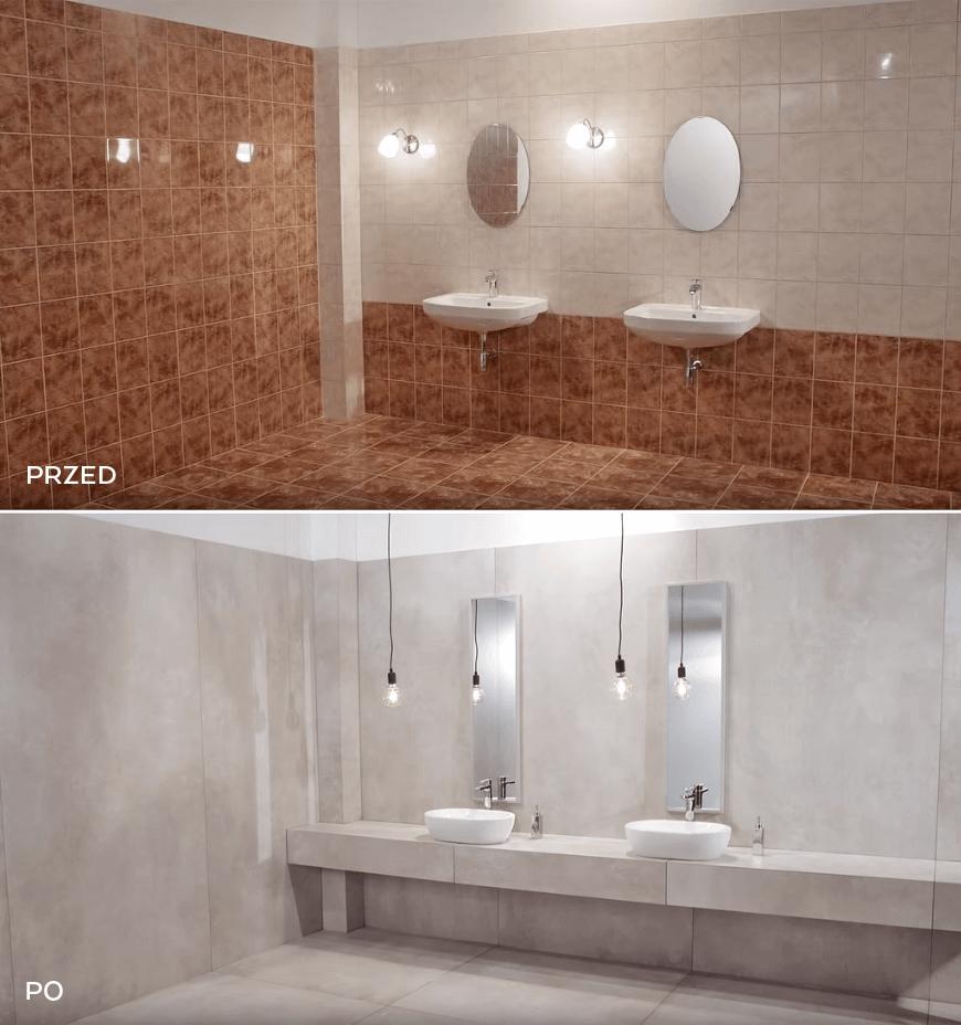 Łazienka Tubądzin. Metamozfora łazienki. Płytki wielkoformatowe. Salon HOFF. Aranzacje łazienek w modnym stylu. Trendy 2020 w łazienkach.