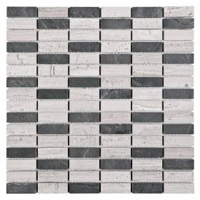 Mozaika Woodstone Grey Block Mix 48  30,5x30,5 Dunin