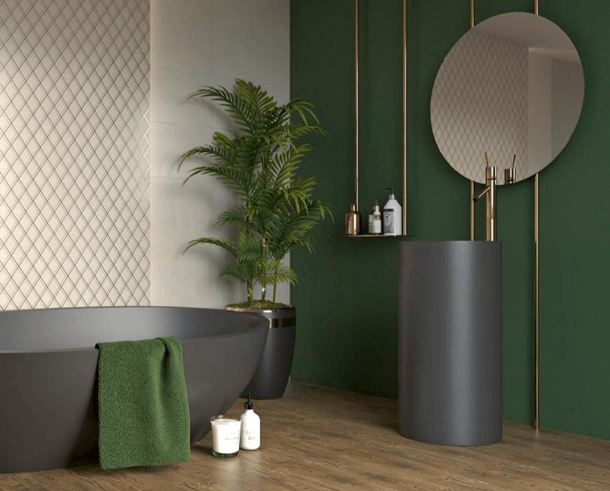Paradyż, czarna umywalka, czarna wanna, kolorowa ceramika w odmienionym wydaniu. Przemiana współczesnych łazienek. Salon HOFF