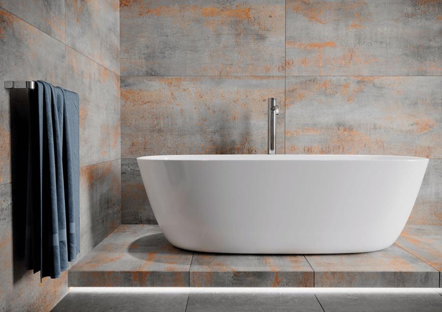 Hera Acero płytki imitujące beton i metal nowośc Limone