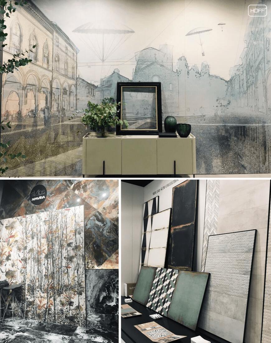 płytki łazienkowe obrazy, płytki jak obrazy, modne płytki do łazienki 2020, trendy łazienkowe 2020, nowoczesna łazienka 2020, salon hoff, cersaie