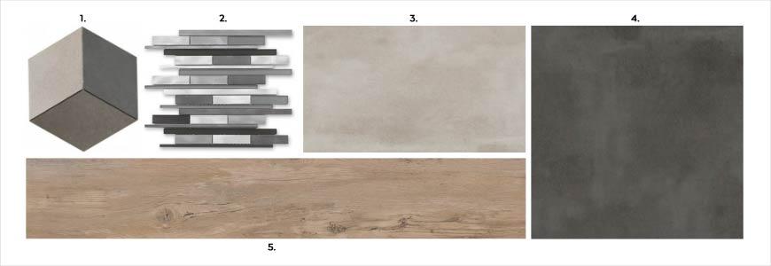 Płytki łazienkowe Town Soft Grey w Salonie HOFF Modna łazienka industrialna z mozaiką Wybierz swoją idealną kompozycję płytek do swojej łazienki