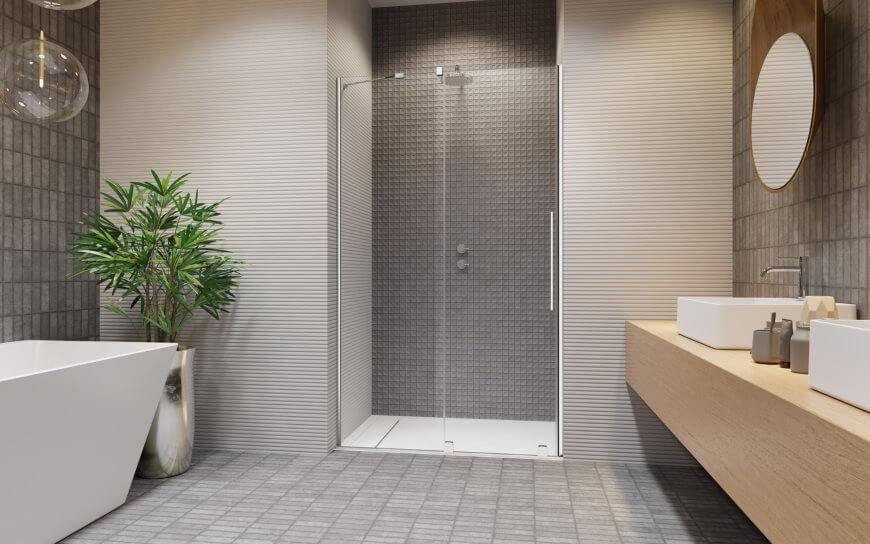 Prysznic we wnęce. Drzwi wnękowe Furo DWJ Radaway