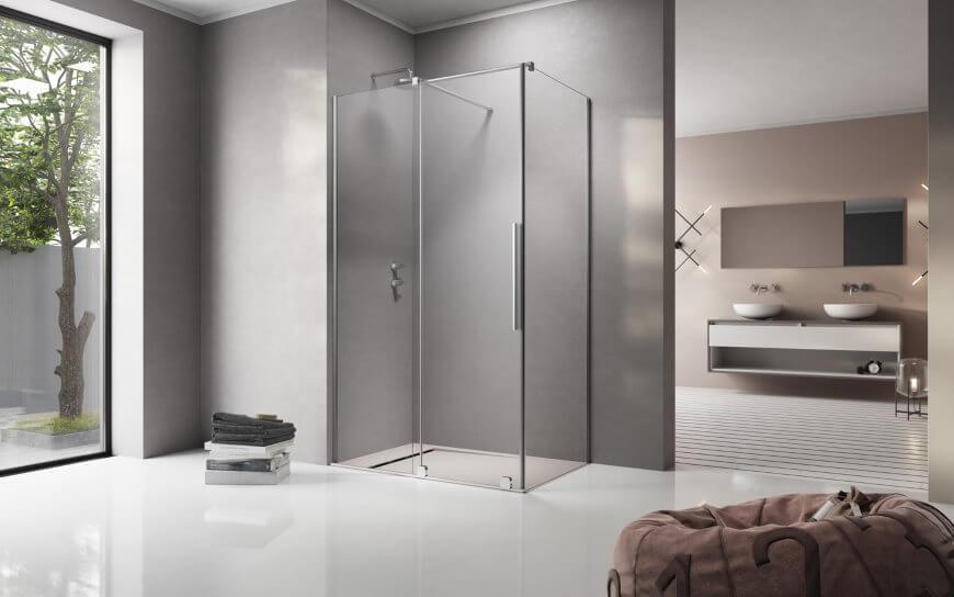 Przestronna kabina prysznicowa z drzwiami przesuwnymi Furo KDJ Radaway