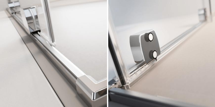 Rolki zlicowane ze szkłem w kabinach Radaway z systemem płynnej regulacji