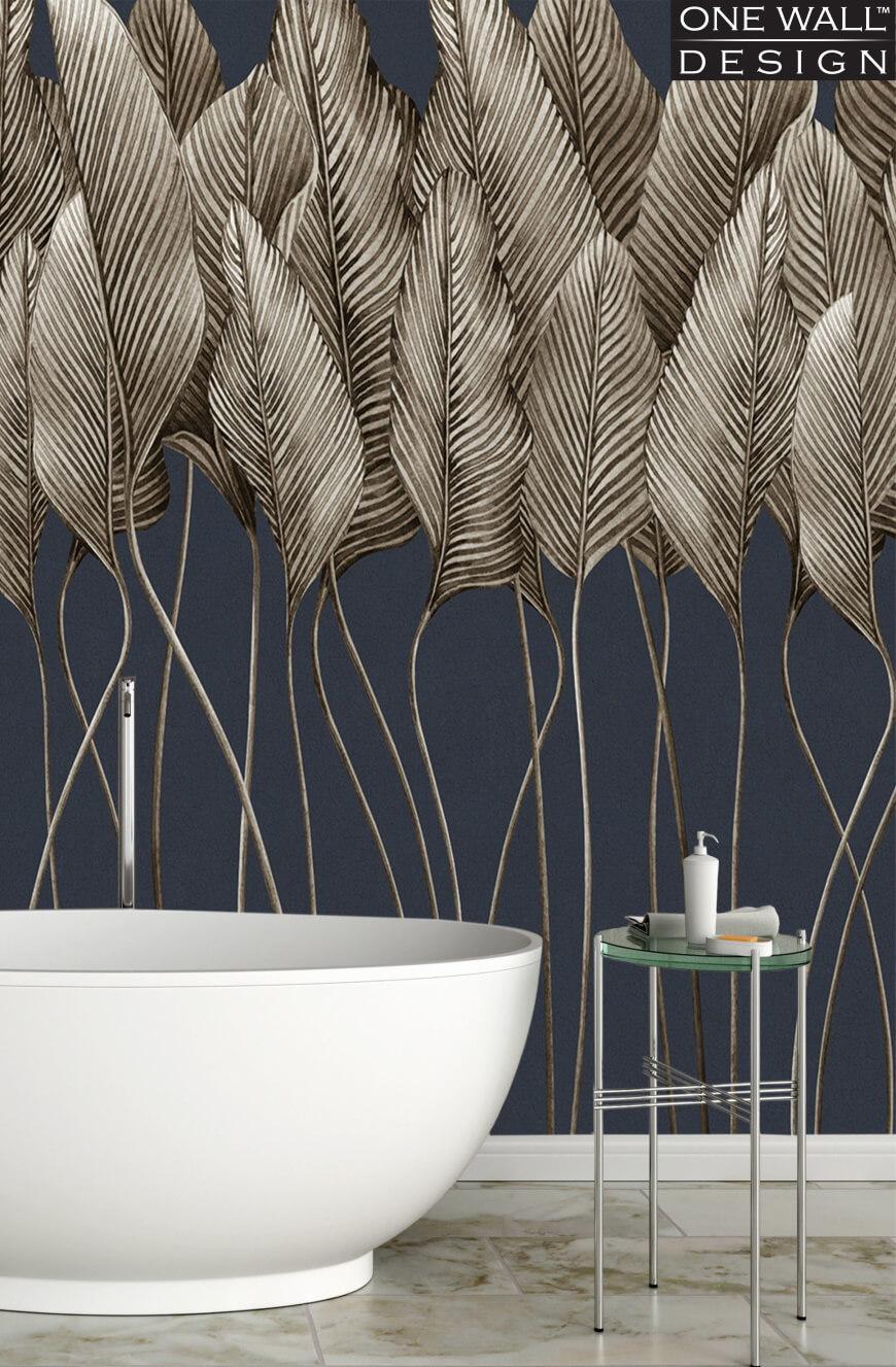 Inspiracje HOFF - łazienka z tapetą