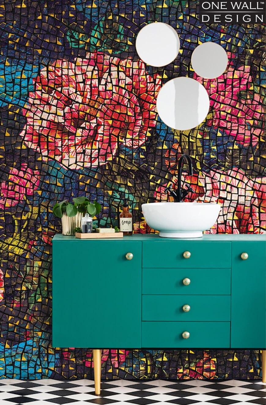 Tapeta w łazience - inspiracje HOFF