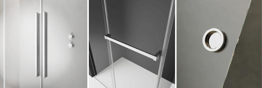 Typy uchwytów w kabinach prysznicowych z serii Furo Radaway