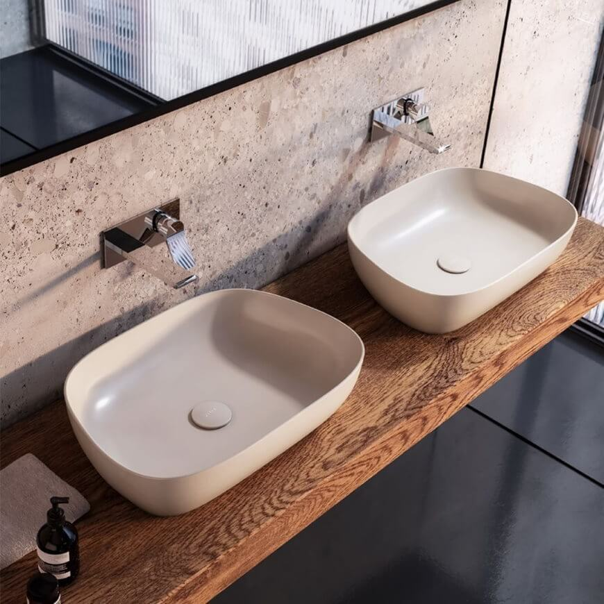 umywalka beżowa vitra suite-u - trendy łazienkowe 2021