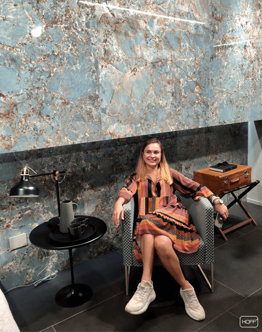 Zespół projektantów Salonu HOFF na targach Cersaie 2019 Poznaj trendy łazienkowe 2020 i najnowsze inspiracje