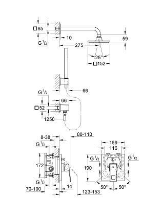 Zestaw Podtynkowy Eurocube 23409000 Grohe